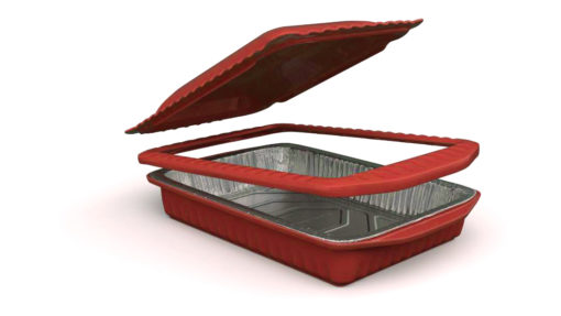 foil decor red open lid